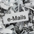 Shredded paper keyword emails — ストック写真