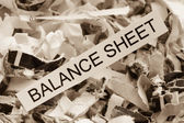 Balance sheet of paper — Stock Photo