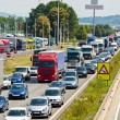Traffic jam on highway — Stock Photo