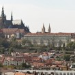 Stock Photo: Prague, charles bridge, prague castle and hradcany