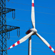 Pinwheel of a wind power plant for electricity - Stock Photo