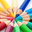 Lots of colored crayons — Stock Photo