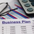Business plan of a permanent establishment - Stock Photo