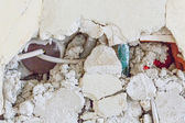 Broken masonry — Stockfoto