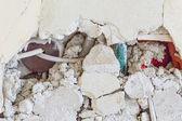Kırık duvar — Stok fotoğraf