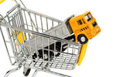 Cart and trucks — Stock Photo