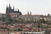 Prague, charles bridge, prague castle and hradcany — Stock Photo