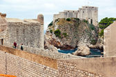 Croatia, dubrovnik, city walls — Stock Photo