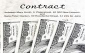 ドル紙幣と英国の契約 — ストック写真