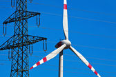 Pinwheel of a wind power plant for electricity — Stock Photo
