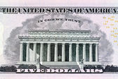 U.s. dollar bills. detail — Stock Photo