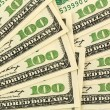 Many dollar bills — Foto de Stock