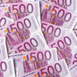Five hundred euro notes — Stock Photo #21179467