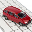 Car on copmputertastatur — Stock Photo #21182789