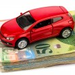 Stock Photo: Auto-swiss franc
