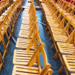 Empty chair because of rain at event — Stock Photo