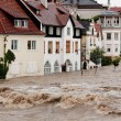 Stock Photo: Floods and flooding in steyr, austria