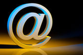 Email characters. online communication. — Stock Photo