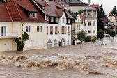 Floods and flooding in steyr, austria — Foto de Stock
