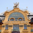 Prague, wenceslas square, hotel europa — Stock Photo
