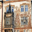 Prague, old town square, storchenhaus - Stock Photo