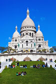 Paris. sacre coeur in montmartre — Stock Photo