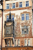 Prague, old town square, storchenhaus — Stock Photo