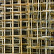 Stock Photo: Steel mesh at construction site