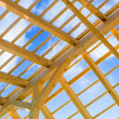 Wooden roof construction - Foto Stock
