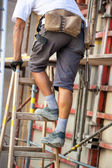 Construction workers at a construction site — Stock Photo