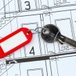 House plan with key — Stock Photo