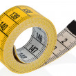 Stock Photo: Yellow tape measure