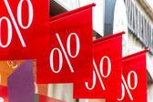 Retail price drop in percentage — Stock Photo