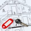House plan with key — Foto Stock