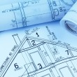 Blueprint for a house — Stock Photo