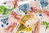 Birçok euro banknot — Stok fotoğraf