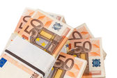 Many euro notes — Stock Photo