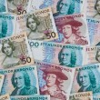 Swedish crowns. currency of sweden — Stock Photo #24691439