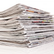 Stacks of old newspapers and magazines — Stock Photo