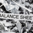 Scraps balance sheet — Stock Photo