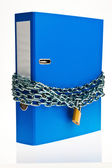 Closed file folder with chain — Stock Photo