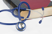 Book and stethoscope, — Foto Stock