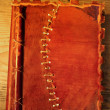 Old diary with leather cover — Stok fotoğraf
