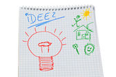 Notepad with idea — Foto de Stock