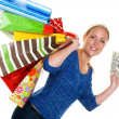 Woman with shopping bags while shopping — Stock Photo #25448117
