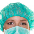 Doctor with surgical mask — Stock Photo