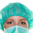 Doctor with surgical mask - Stock Photo