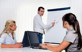 Education for staff training of adults — Stock Photo
