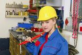 Mechanic in workshop — Stock Photo