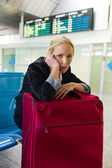 Businesswoman waiting at the airport — Stock Photo